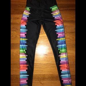 Justice girl black leggings